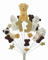 Dogs 13th birthday cake topper decoration - free postage